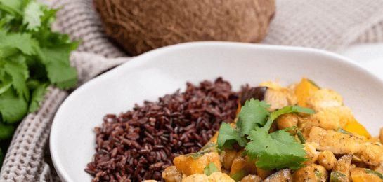 Chickpea Tikka Masala with Black Rice