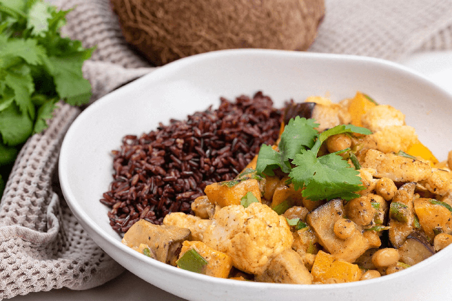 Chickpea Tikka Masala with Black Rice