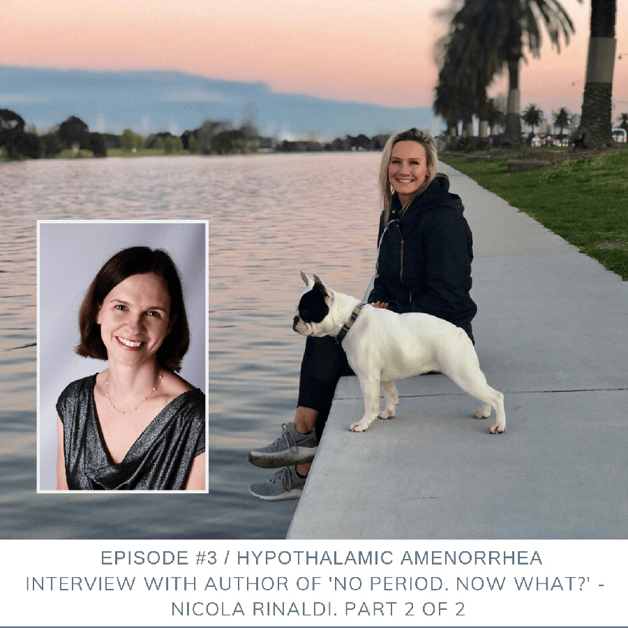 Podcast Episode 3: Hypothalamic Amenorrhea: Interview with Author or 'No Period. Now What?' – Nicola Rinaldi. Part 2 of 2