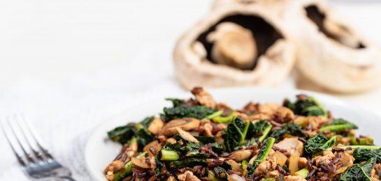 Turkey, Black Rice and Kale Stir Fry