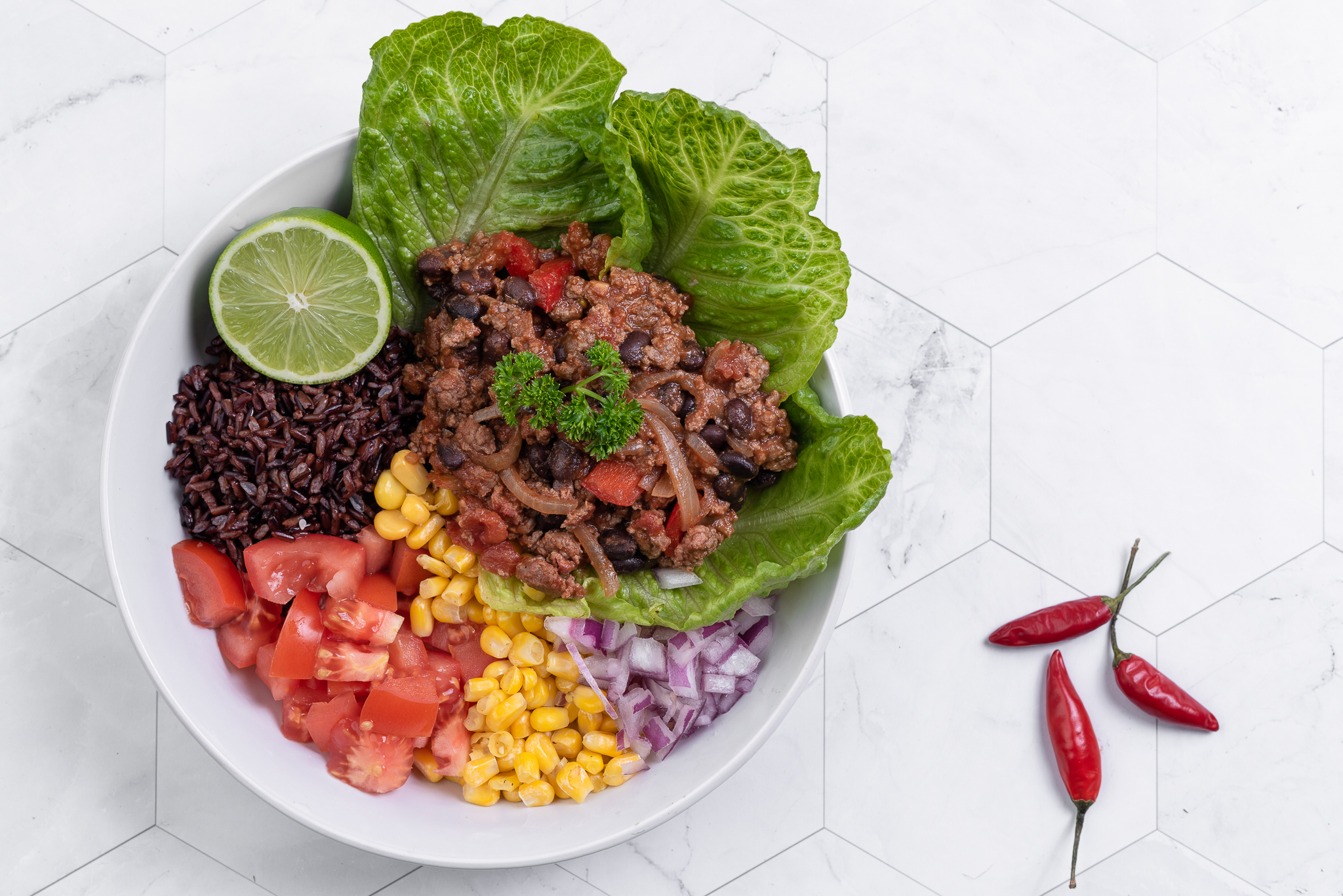 Beef and Bean Mexican Bowl
